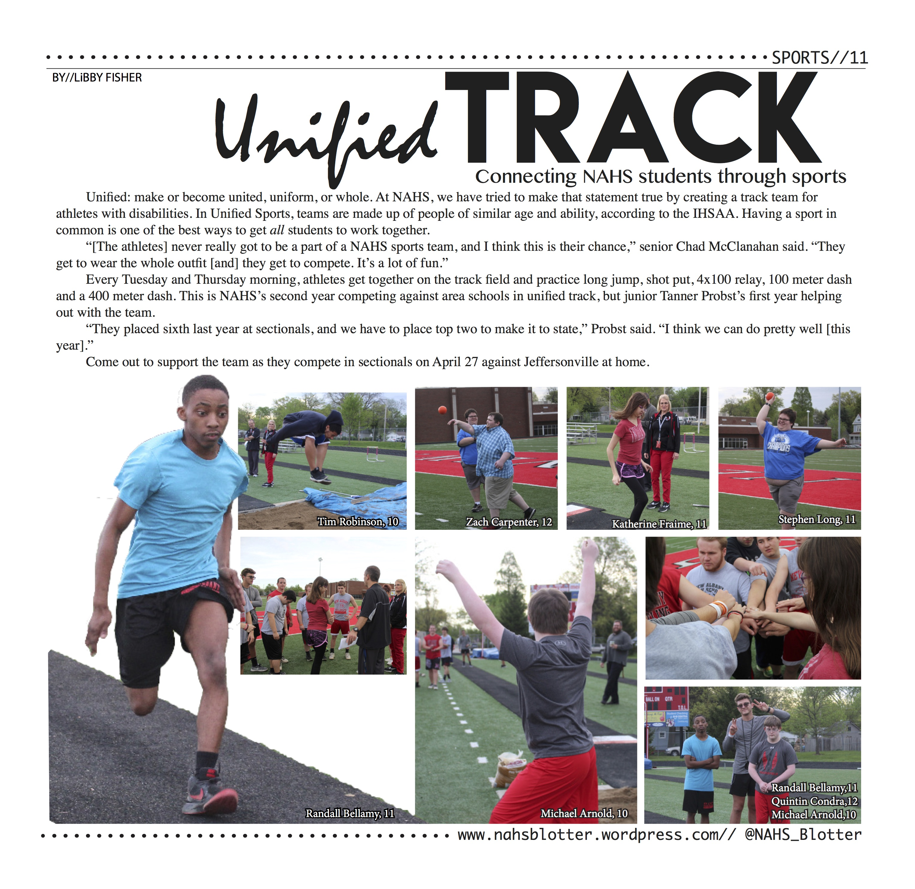 Unified Track // April Print Edition by//Libby Fisher