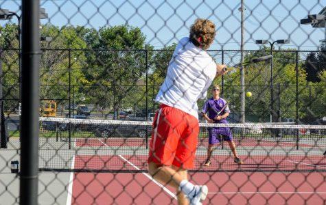 Boys Tennis defeats Pekin Eastern