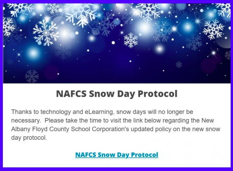 "District says goodbye to traditional ""snow days"""