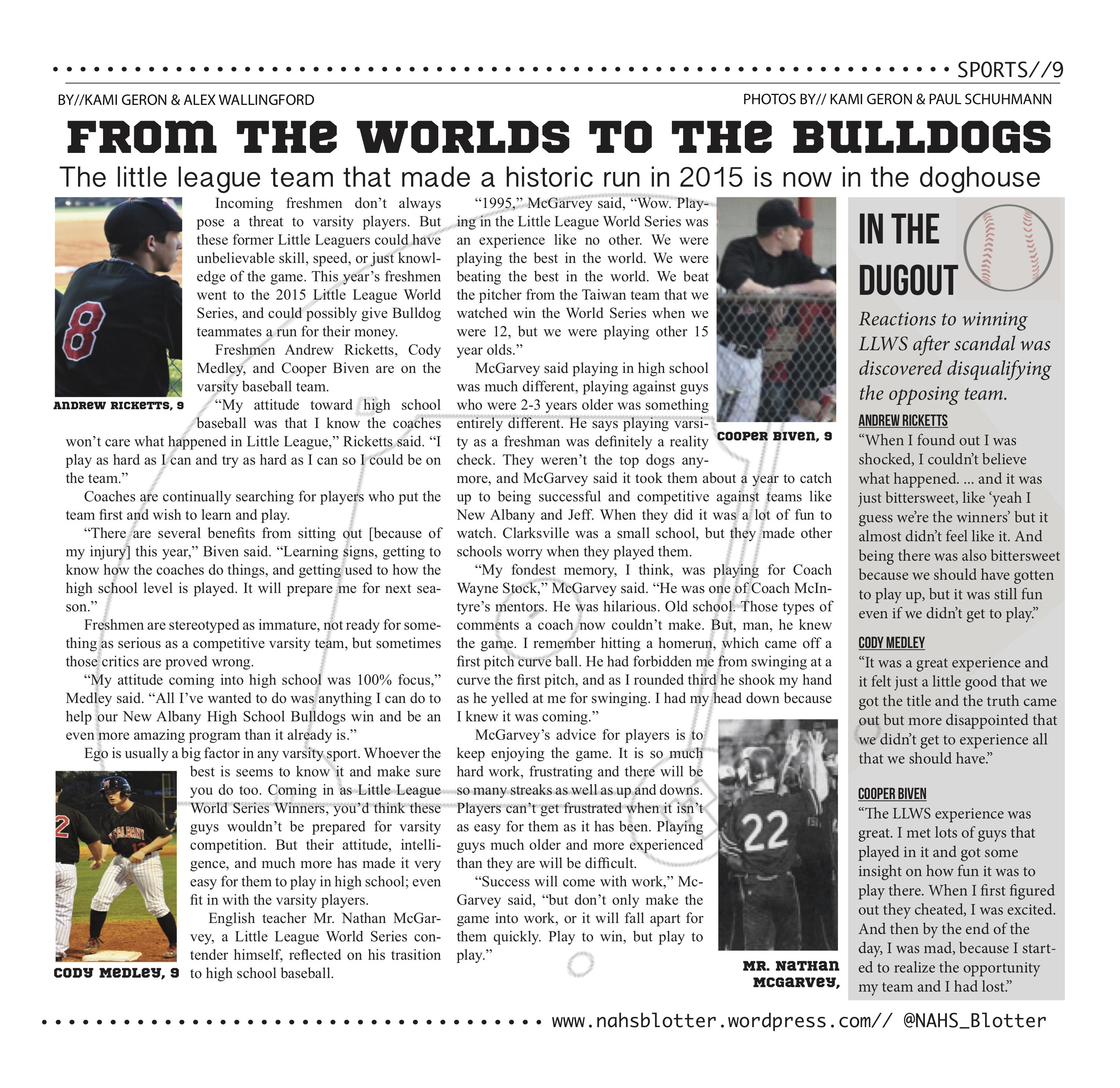 From Worlds to the Bulldogs // April Print Edition by//Kami Geron & Alex Wallingford