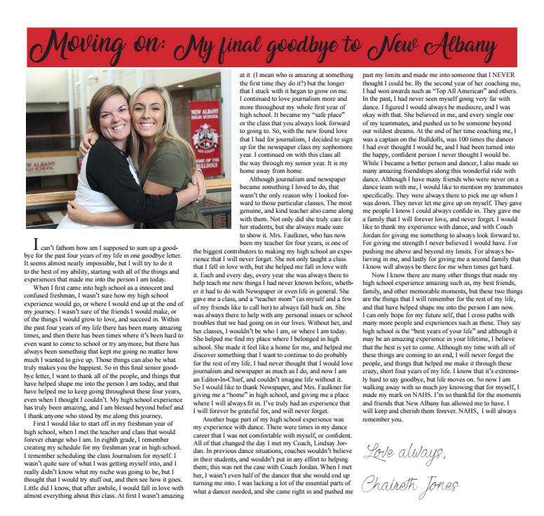Moving on: My final goodbye to New Albany by//Chaireth Jones
