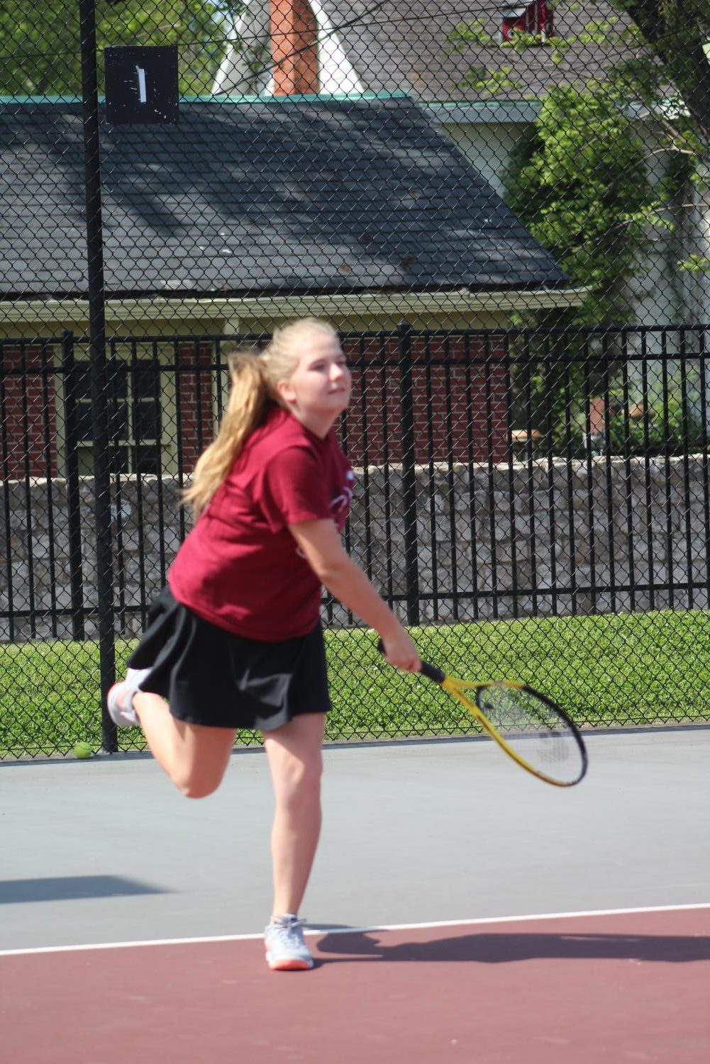Marie-Claire Diehl hits the tennis court