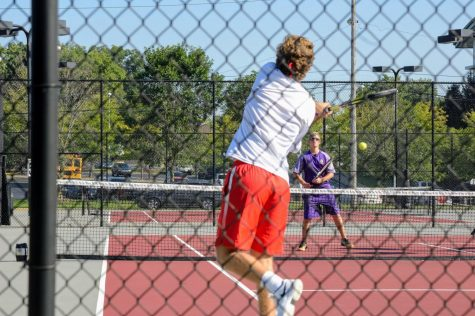 Boys tennis scrimmages Jeffersonville