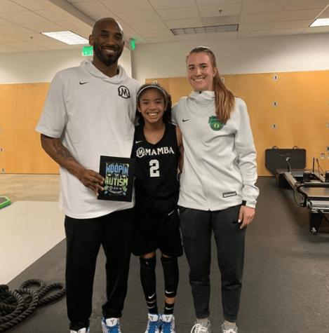 Kobe Bryant, daughter Gianna and Sabrina Iconescu.